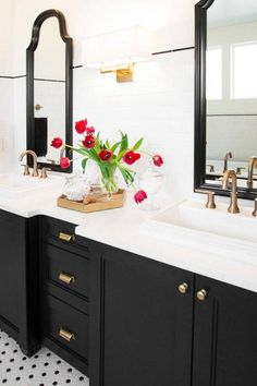 countertop solutions white and black bathroom