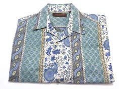 Tori Richard M Men's Cotton Lawn Short Sleeve Button Front Hawaiian Floral Shirt #ToriRichard #ButtonFront