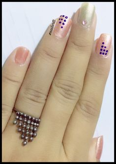 Hi girls ... Here's my new nail art inspired from my ring  gifted by bestie .. jus ❤️ u dear . 'Simple n elegant dotting ring inspired design.' Feel free to Share ❤️. Like .  Thank You ❤️. #nailart5 #nailart #nails #polish #realn