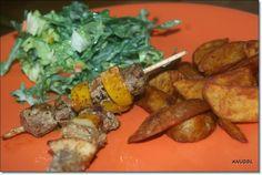 Rinder - Zitronen - Spieße mit Westernkartoffeln