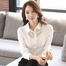 2015 nova moda mulheres escritório desgaste do trabalho de manga comprida magro mulheres blusas casual(China (Mainland))