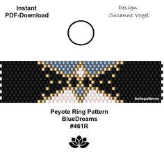 Ein persönlicher Favorit aus meinem Etsy-Shop https://www.etsy.com/de/listing/569244538/peyote-ring-muster-pdf-download-digital