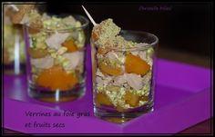 Verrines au foie gras et fruits secs