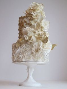 Featured Cake: Maggie Austin Cake; Wedding cake idea.