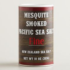 One of my favorite discoveries at WorldMarket.com: Mesquite Smoked Pacific Sea Salt Fine