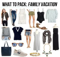 jillgg's good life (for less) | a style blog: what to pack: family vacation!