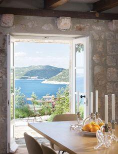 breakfast on a terrace, overlooking the ocean :)