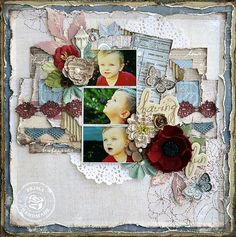 I love this new Prima collection, En Francais, and the layout by Janine Koczwara.