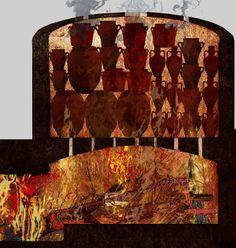 Forn ceràmic secció / Horno cerámico sección Shades, Lighting, Home Decor, Museum, Kitchen Stove, Homemade Home Decor, Sunnies, Lights, Eyeshadow