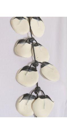 Annemieke Broenink Handmade White Poppy Rubber Necklace from idaretobe