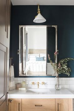 Dark + Dramatic Bathroom