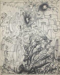 Gyula Zilzer Original Lithograph Folio Gas Attack, 1932