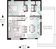 Cottage Style House Plan - 2 Beds 2.00 Baths 1295 Sq/Ft Plan #23-493  sc 1 st  Pinterest & Modular in-law apartment Building Modular - General Housing ...
