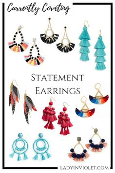 Statement Earrings   Spring Jewelry   Colorful Earrings   Summer Jewelry   Lady in Violet   Houston Style Blogger