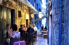 Dubrovnik in Croatia is famous for its beauty, but it's also a great town to explore. The city is made up of hundreds of narrow alleyways, hiding shops, restaurants and cafes like the D'vino wine bar. This is one of my favorite spots to people watch and enjoy being with friends.