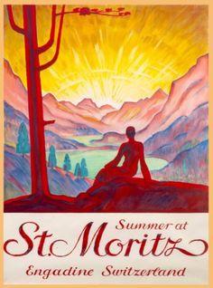 Summer-at-St-Moritz-Switzerland-Swiss-Suisse-Vintage-Travel-Art-Poster-Print