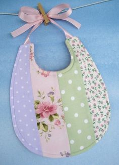 Baby Bib Sewing Pattern – Pretty Pieced Bib with Ribbon Ties – PDF ePattern – Sewing Projects Sewing Projects For Kids, Sewing For Kids, Sewing Crafts, Sewing Ideas, Baby Sewing Tutorials, Sewing Tips, Baby Bibs Patterns, Sewing Patterns, Quilting Patterns
