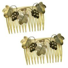 Stunning vintage hair combs