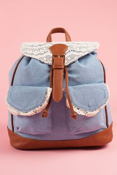 From Clothing to Shoes, Accessories, and Cosmetics. One Shoulder Backpack, Denim And Lace, Denim Bag, Personal Stylist, Phone Holder, Leather Handle, Nifty, Shoulder Straps, Fashion Backpack