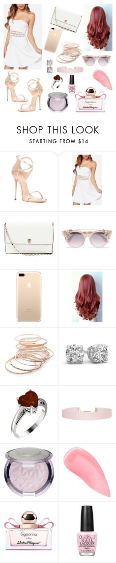 """""""SPRING"""" by hollyjaki ❤ liked on Polyvore featuring Giuseppe Zanotti, Valextra, Jimmy Choo, Red Camel, Humble Chic, Kevyn Aucoin, Salvatore Ferragamo, OPI, whitespring and sprinkelstyle"""