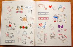 I like the hand mande pattern and the scissors :) Japanese embroidery book by trosper31, via Flickr