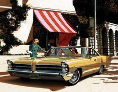 The artwork of Art Fitzpatrick and Van Kaufman  Pontiac Advertisement Illustrations of the 1960's.
