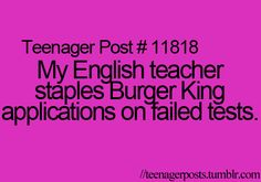 I wish I was an English teacher, haha