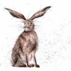 'Good Day Hare' disponible dès maintenant Wrendale Designs.