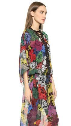 Just Cavalli Romantic Frida Print Dress