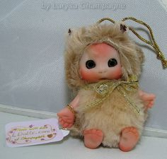 BEIGE Brown Hamster Mouse  Baby  Cute Baby Doll  by larysadolls, $25.00