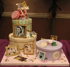 Hatbox Birthday Cake- I would really like to have this made for my grandma's 80th birthday.