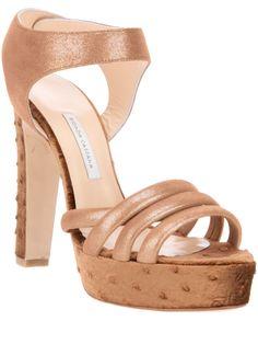 683652534308 bionda castana ostrich detail Brown Leather Sandals