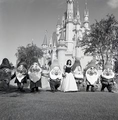 A look at the Seven Dwarfs w/ Snow White at Magic Kingdom in 1971. #ThrowBackThursday