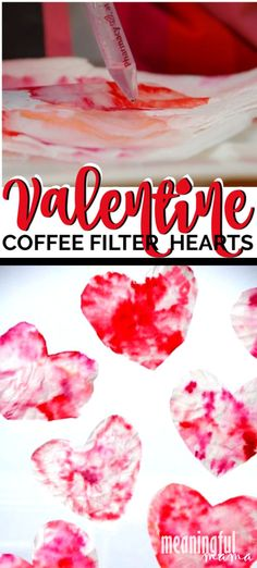 Looking for a great but simple Valentine's craft that will be fun for all kids - toddlers and beyond? This tie dye coffee filter Valentine Heart Craft is super easy and very enjoyable. projects for toddlers Tie Dye Coffee Filter Valentine Heart Craft Halloween Crafts For Toddlers, Easy Crafts For Kids, Toddler Crafts, Toddler Snacks, Gifts For Kids, Toddler Activities, Valentine's Day Quotes, Cousin Quotes, Daughter Quotes