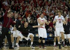 UCM Boys basketball celebrating during the National Championship game!