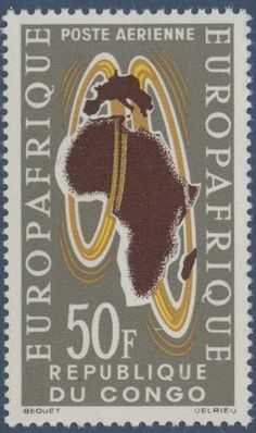 Congo, Africa Map, Airmail