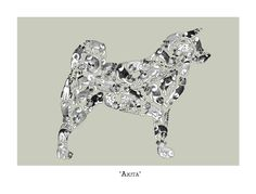Dog Lover Gift Akita Art Print Signed by LouTateIllustration