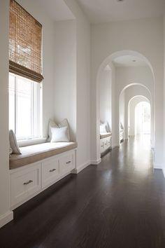 Arched doorways, window seats