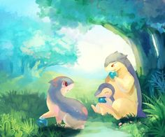 The family of Cyndaquil, Quilava & Typhlosion
