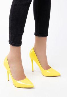 Pantofi stiletto Elama Galbeni