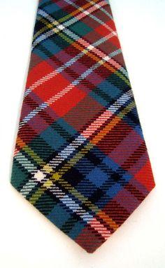 Luxury Handmade Tartan Tie -