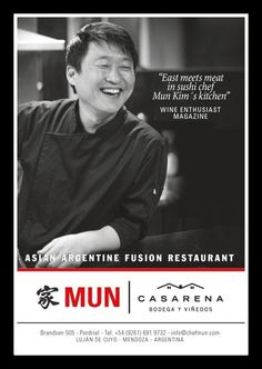 Chef Mun in Wine Republic Magazine....
