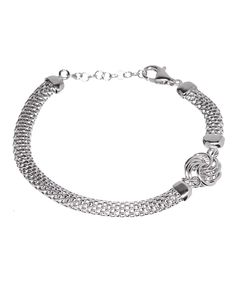 Look what I found on #zulily! Sterling Silver Love Knot & Popcorn Chain Bracelet by Sevil 925 #zulilyfinds