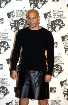 Vin Diesel in a kilt, be still my heart!