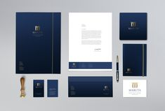 Logo + identity proposition for Maruta Law Firm – Pin's Page Corporate Identity Design, Brand Identity Design, Branding Design, Logo Design, Identity Branding, Visual Identity, Graphic Design, Letterhead Design, Stationery Design