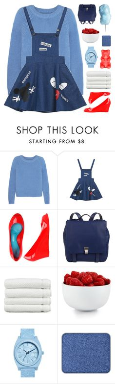 """LOONEY TUNES"" by emmas-fashion-diary ❤ liked on Polyvore featuring Iris & Ink, Proenza Schouler, Linum Home Textiles, The Cellar, Nixon and shu uemura"