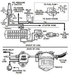 automotive alternator wiring diagram boat electronics pinterest Car Alternator Wiring Diagram wiring an electric fuel pump diagram engine repair, car engine, engine swap, chevy