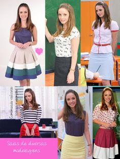 Blog de Moda & Consultoria ♥: A professorinha Helena usa um look mais clássico.....