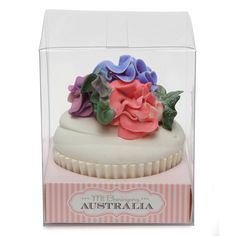 Floral Icing Topped Cupcake Soap In Gift Box | Best Selling Cupcake Soaps Online!