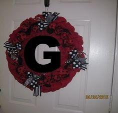 Georgia Bulldog Burlap Wreath
